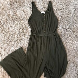 Everly Olive Buttoned Jumpsuit